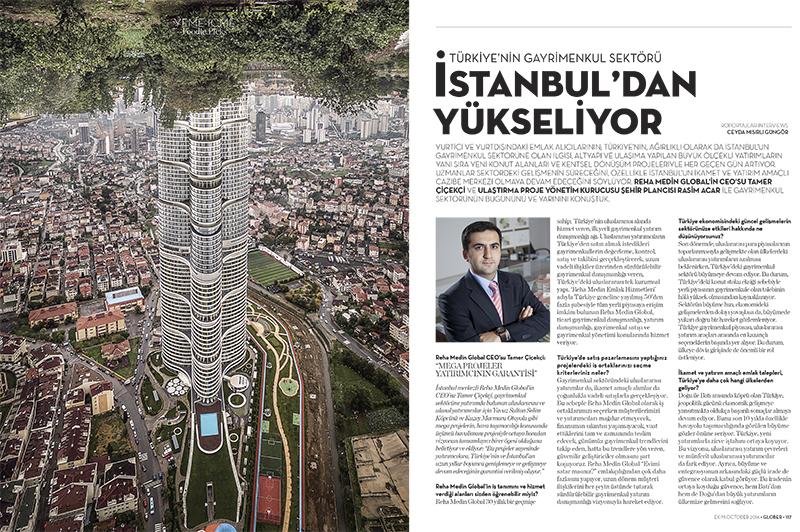 TÜRKİYE'NİN GAYRİMENKUL SEKTÖRÜ İSTANBUL'DAN YÜKSELİYOR