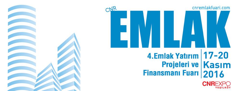 CNR Emlak 2016 - Emlak Yatırım Projeleri ve Finansmanı Fuarı 17-20 Kasım'da