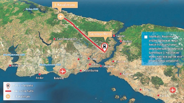Gayrettepe - 3. Havalimanı Arası 26 Dakika Olacak